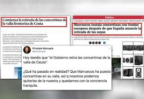 Quitando las concertinas de la valla de Ceuta… mientras las pone Marruecos: dos noticias juntas se entienden mejor