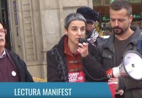 (Vídeo) Lectura y entrega del manifiesto para la Ley Aragonès en Barcelona