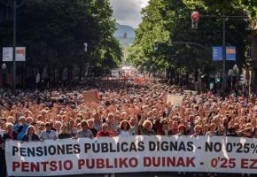 Convocada la huelga general de sindicatos y pensionistas vascos para el 30 de enero