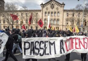 La huelga indefinida de estudiantes empieza con bloqueos en algunas universidades