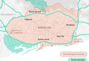 Barcelona estrena su primera gran medida por la calidad del aire con el veto a los coches más contaminantes